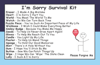 I'm Sorry Survival Kit In A Can